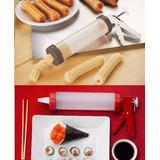 Kit Para Fazer Churros E Aplicador De Cream Cheese Confeitar