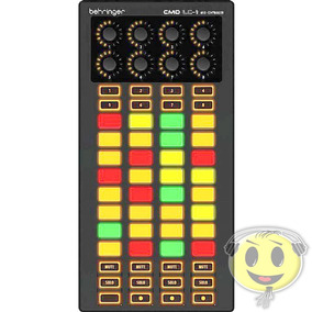 Controlador Pad Dj Cmd Lc 1 Sampler Usb Behringer - Kadu Som