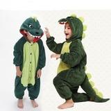 Pijama De Dinossauro Infantil Com Capuz - 100% Algodão
