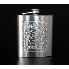Cantil Porta Whisky Jack Daniels Aço Inox 200ml