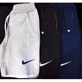 Kit 3 Bermuda Moleton Nike Shorts Nike Academia Frete Grátis