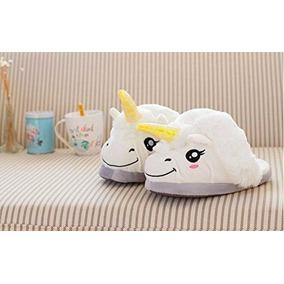 Pantuflas Unicornio Blanca En Stock Nuevas Importadas De Usa