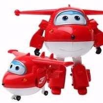 Super Wings Jerome E Jett -transformável-avião-musical