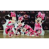 Kit Displays Minnie Rosa Com 8 Peças! Display Envio 48hs