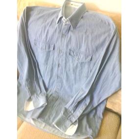 Camisa Jeans Gola E Punho Reforçado Manga Comprida Linda