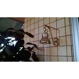 Sino De Bronze C/suporte Pintado De Dourado