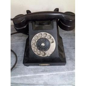 Antiguo Teléfono A Disco Ericsson De Baquelita