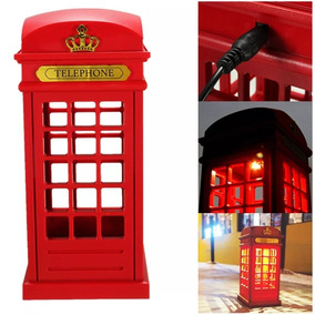 Lampara Led Cabina Telefonica London- Velador Touch
