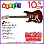 Squier Standard Guitarra Strato Zurda 032-1620-537 Outlet