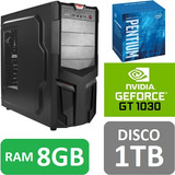Torre Cpu Gamer Pentium G5400 Gt1030 1tb 8gb Pc Wifi Gratis