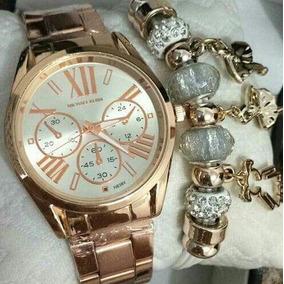 Kit 5 Relógios Feminino C/pulseira+caixa Atacado P Revenda