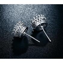 Aretes De Oro Blanco 18k Zirconia T/diamante Envio Gratis