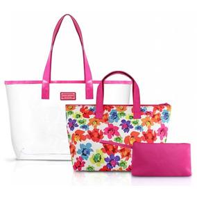 7358134c9d07e Kit Com 03 Bolsas Linha Aquarela Jacki Design Ahl17231