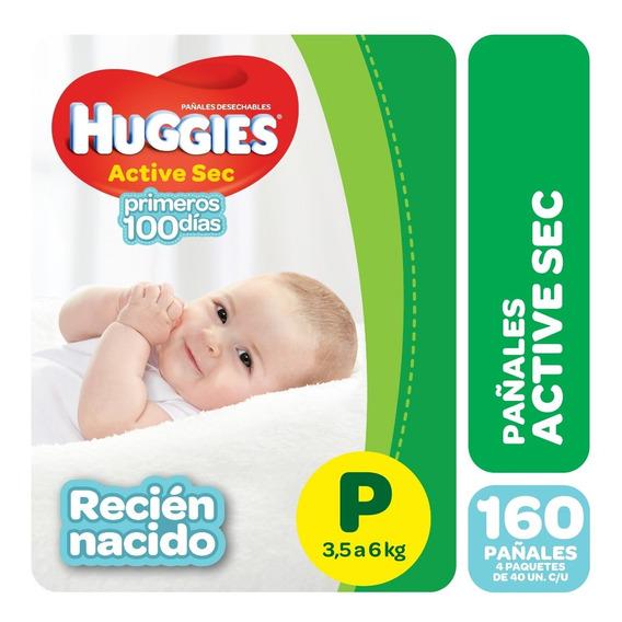 Pa?ales Huggies Active Sec P Y Recien Nacido Pack X 4