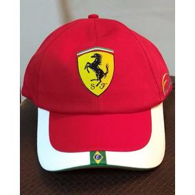 Boné Vermelho Ferrari Felipe Massa Original Novo 9298d9228f1