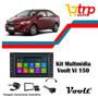 Multimidia Prisma 2015 Voolt 150 Dvd Gps Bt Tv 2 Din Android