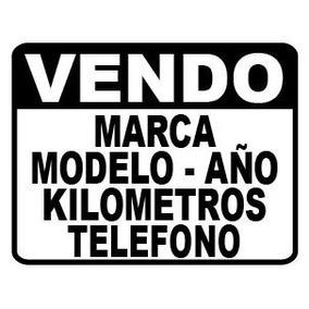 Sticker Calco Cartel Vendo Auto En Vinilo Autoadhesivo Plot