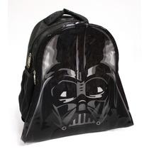 Mochila Disney Star Wars Darth Vader 2 Compartimentos Negro
