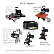 Prensa Termica Digita 10 Em 1 A3 A4 Impressora Multifuncional L3150 220volt Para Camiseta Chinelo Bone Copo Caneca