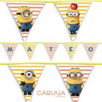 Banderines De Tela Personalizados. Fiestas. 2 Metros