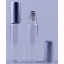 Frasco 10 Ml De Vidrio Roll On De Metal Aromaterapia Perfume