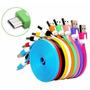 Cable Micro Usb V8 Plano 3 Metros Celular Tablet Colores