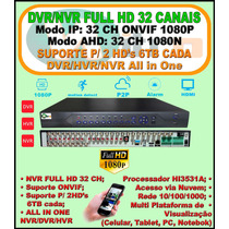 Dvr Gravador Digital Ahd 32 Canais 1080n Ou Ip 32 Ch 1080p