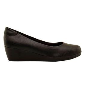 Zapato Clasico Con Taco Chino, Plantilla Anatomica Cuero Eco
