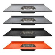 Mesada Durafort C/ Bacha Central Acero 180x60cm C/ Zócalo