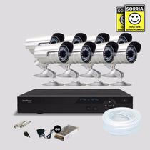 Kit Segurança Dvr Stand Alone 8 Canais Intelbras C/8 Cameras