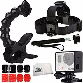 Kit Aventura Go Pro Hero Acessórios Gopro 3 3+ 4 5 Sports Hd