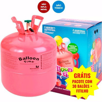 Bujão Cilindro Gás Hélio P/ 50 Balões Bexigas + Brinde