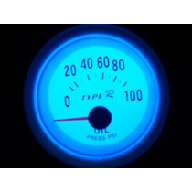 Medidor De Pressão Óleo Motor Marcador Bomba Manômetro Psi