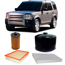 Kit Filtros Land Rover Discovery Iii 2.7 Diesel 2005 A 2009