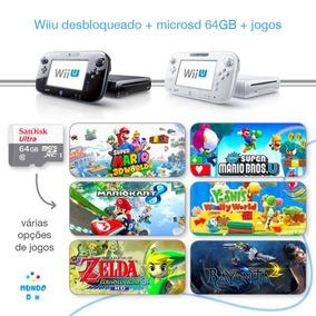 Nintendo Wii U Desbloqueado Loadiine + Cartão 64gb + Jogos.