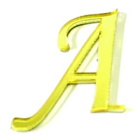 Mini Letras Acrílico Espelhado Dourado 2 Cm Corte Laser