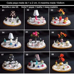 Kit 7 Miniaturas Frasco Perfume Mesa Decorar Casa Bonecas