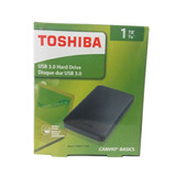 Disco Duro Externo Toshiba 1tb, Usb 3.0 5400rpm , Negro
