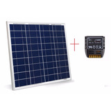 Kit Panel Solar 80w + Controlador Solar 10a Cerco Electrico