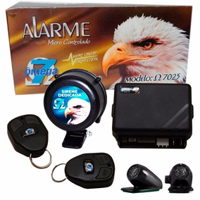 Alarme Omega 7 - 7025 C/ 2 Controles + Sirene (completo)
