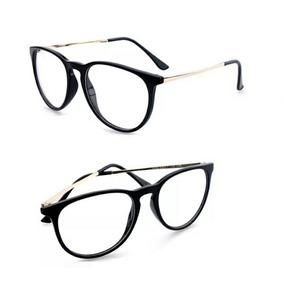 Armação Óculos Grau Redonda Oval Metal Feminino Preço Baixo. R  39 99 c3a887f2b1