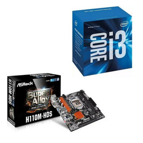 Combo Tarjeta Madre H110m-hds + Procesador Intel I3-7ma Gen