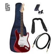 Guitarra Eléctrica Stratocaster Funda Cable Correa Afinador