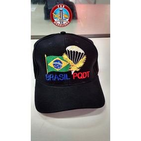 Boné Brasil Pqdt Paraquedistas Bordado 100% Algodão
