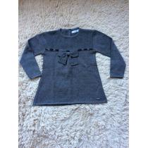 Vestido Infantil Laço Tricô Gbaby - Tamanho 04