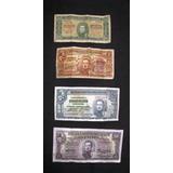 4 Billetes Antiguos De 0.50- 1 Peso- 5 Pesos Y 10 Pesos