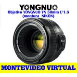 Objetivo Yongnuo Yn 50mm F/1.8 (para Nikon)
