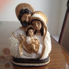 Imagem Sagrada Família - Pérolas E Strass (20 Cm)