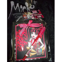 Monster High Anotadores Souvenir C/lapicera Pack X 10 Oferta