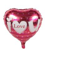 Globo Metálico De Corazon  I Love You  - 5 Pack -